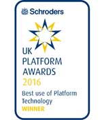 Schroders 2016 UK Platform Awards Logo